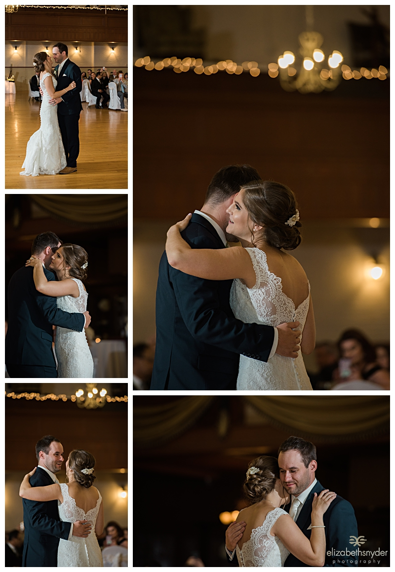 Wedding Couple share their first dance in Buffalo, NY