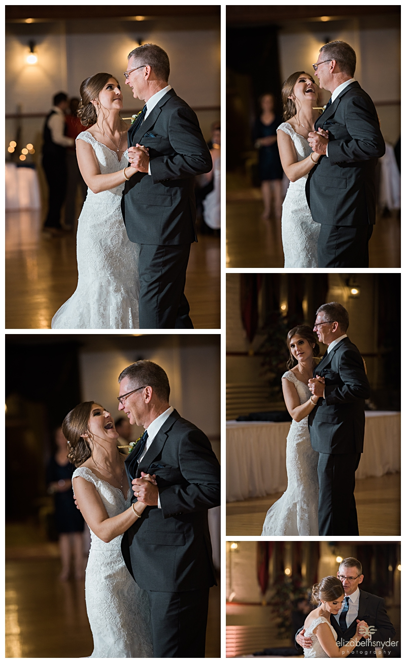 Bride and her father share a dance in Buffalo, NY