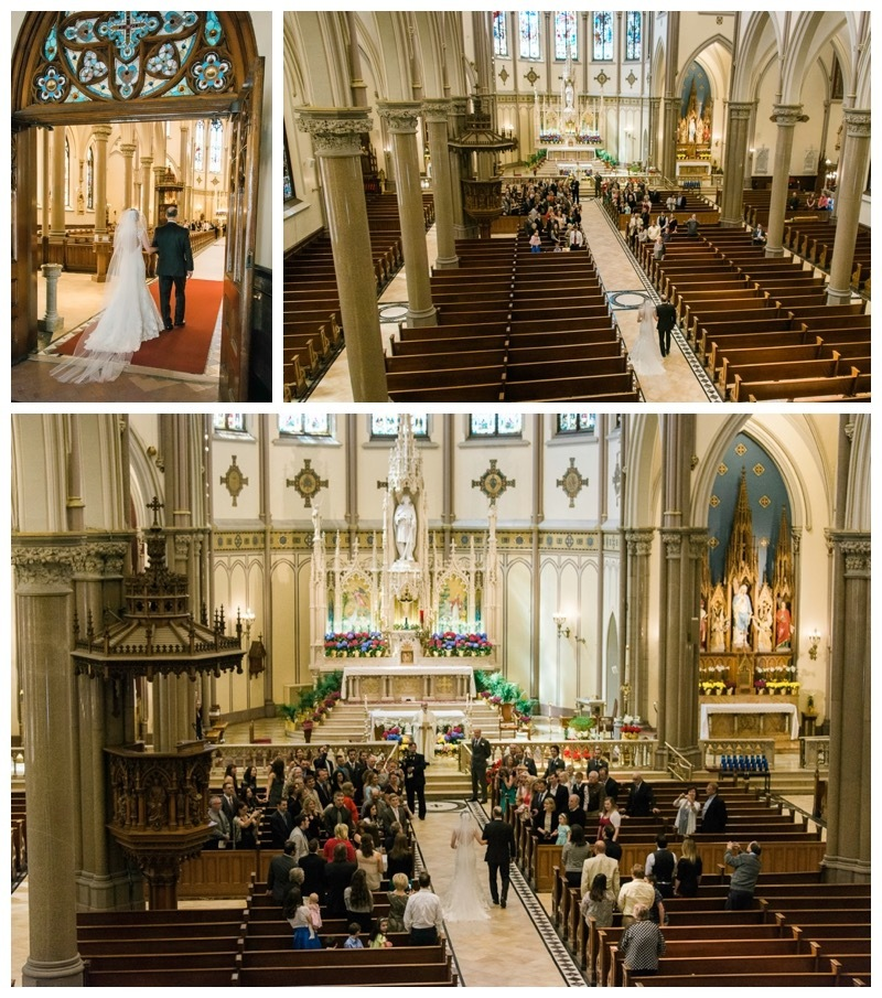 A walk down the aisle in St. Louis Cathedral, Buffalo, NY.