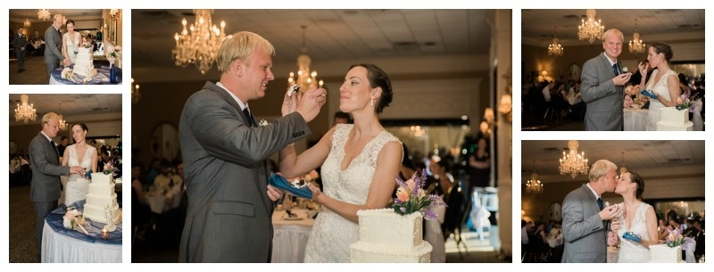 Cake Cutting at the wedding reception.