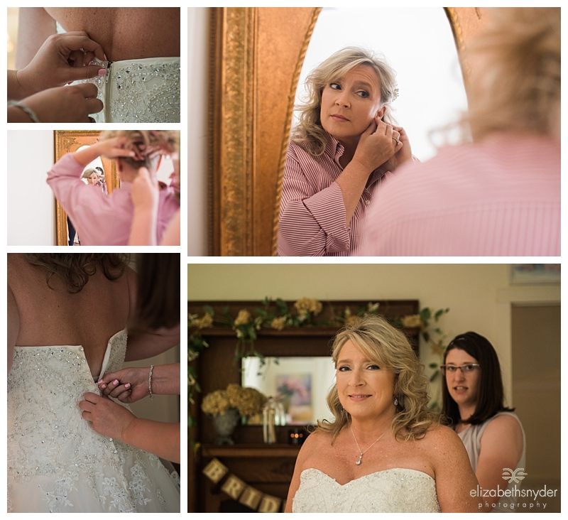 Bride getting ready for her wedding, Roswell, GA
