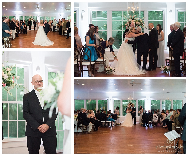 Indoor wedding ceremony at Kimball Hall, Roswell, GA