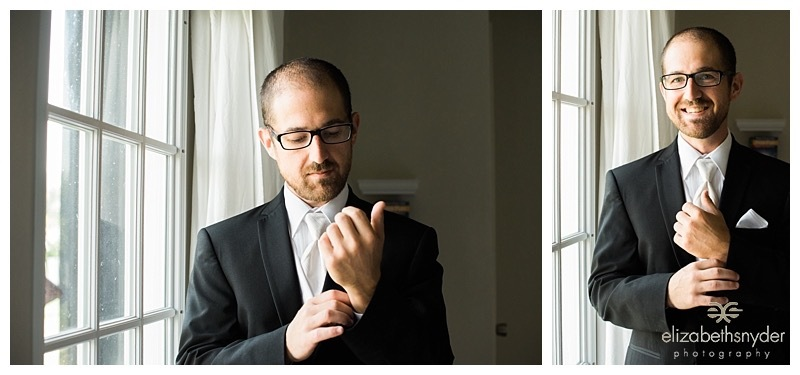 Groom getting ready for the big day.