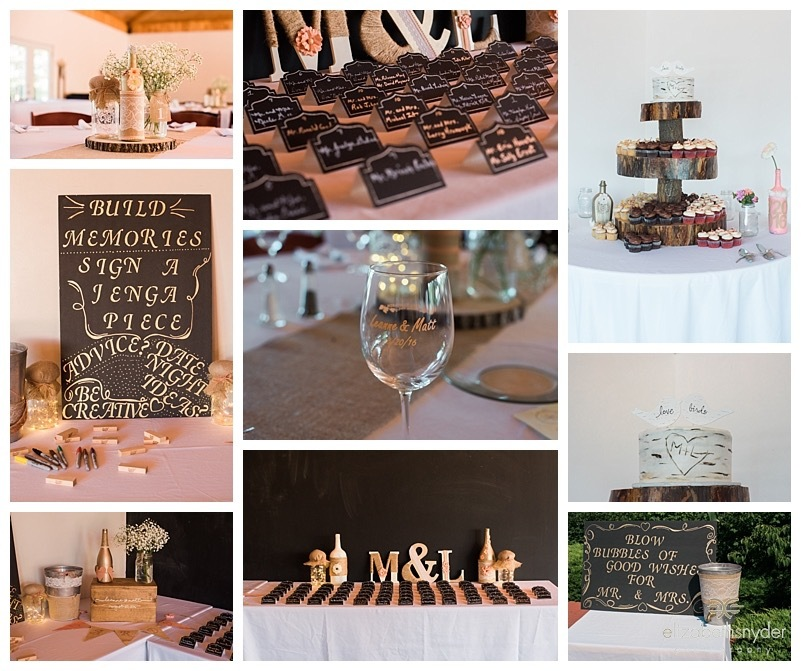 Wedding reception decor and details