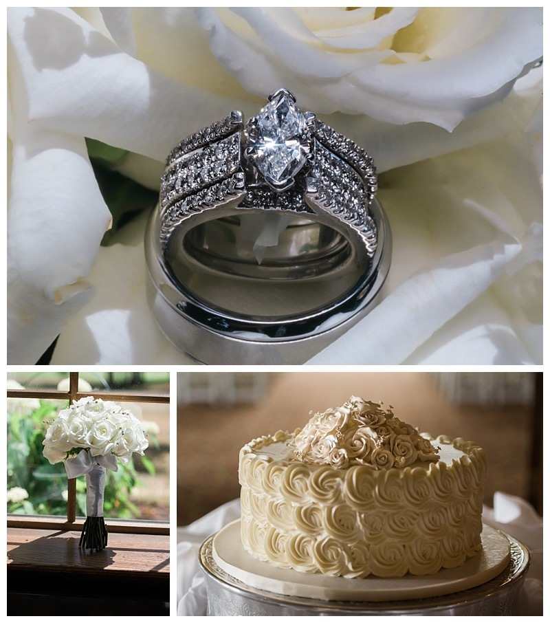 Wedding Day Cake and Wedding Bands