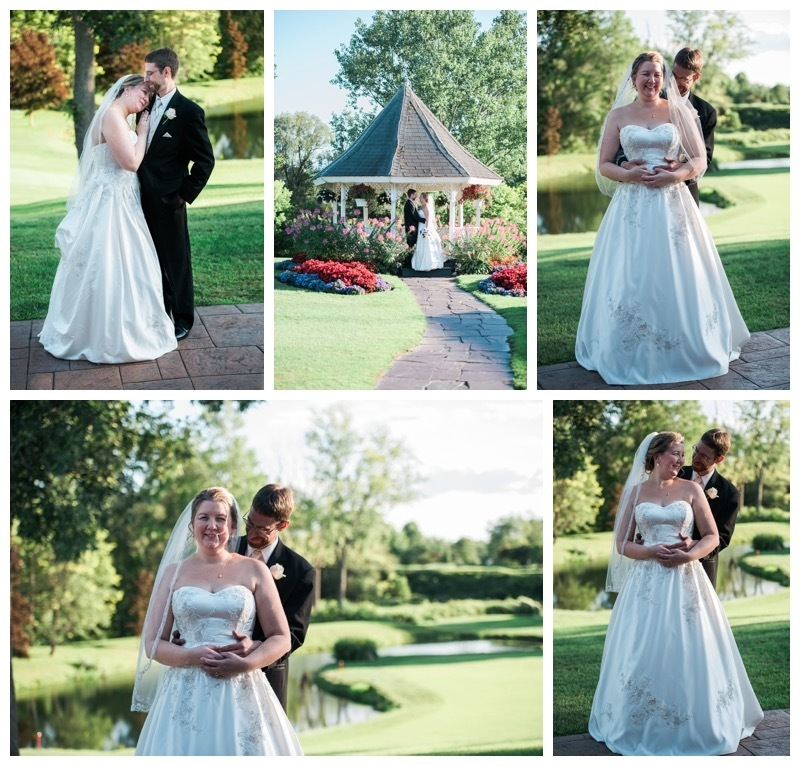 Bridal portraits at Lancaster Country Club.