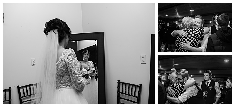 Bride and her bridesmaids getting ready for her wedding in Buffalo, NY