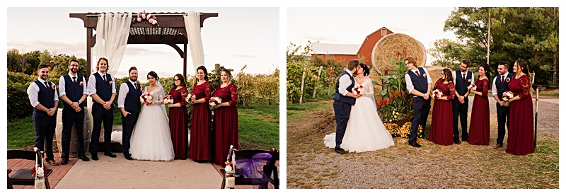 wedding party portraits in Buffalo, NY