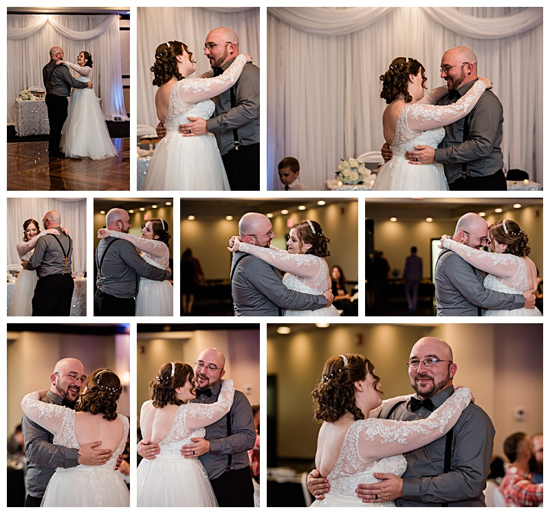 Bride and groom share their first dance in Buffalo, NY