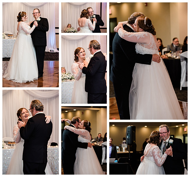 Bride shares a dance with her father in Buffalo, NY
