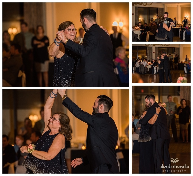 Groom and his mom share a dance.