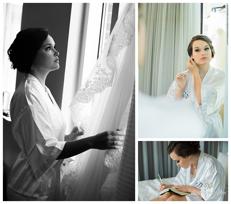 Bride gets ready for her big day.